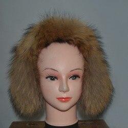 Зимние теплые наушники с натуральным мехом, защита для ушей, натуральный Лисий мех, ушные клещи, меховой воротник