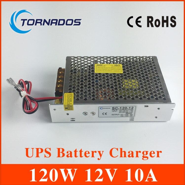 SC-120W-12 120 W 12 V universal AC UPS/Charge fonction moniteur alimentation à découpage entrée 110/220 v batterie chargeur sortie 13.8 v