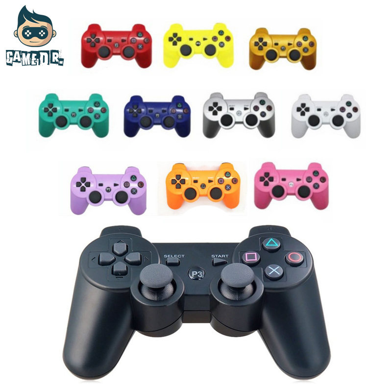 For Sony Playstation 3 Wireless Bluetooth Gamepad Joystick For PS3 Controller Controls Game Gamepad  11 Colors Free Shipping wired usb 2 0 black gamepad joystick joypad game controller for pc laptop for raspberry pi 3 for ps3 for sony playstation