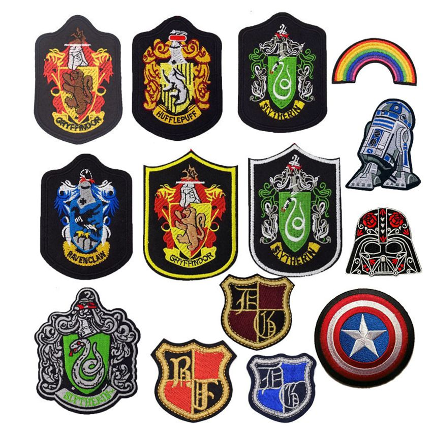 New Arrival HUFFLEPUFF School Badge Star Wars Avengers Patch Embroidered TV MOVIE Costume Emblem applique Halloween cosplay emblem