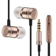 Professional Earphone Metal Heavy Bass Music Earpiece for Xiaomi Mi MIX Headset fone de ouvido With Mic