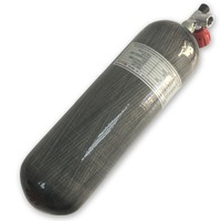 Acecare гПа 4500PSI охоты оригинальный 6.8L 95cf Дайвинг Air Tank углеродного волокна цилиндр, завернутый бак для пейнтбола с клапаном