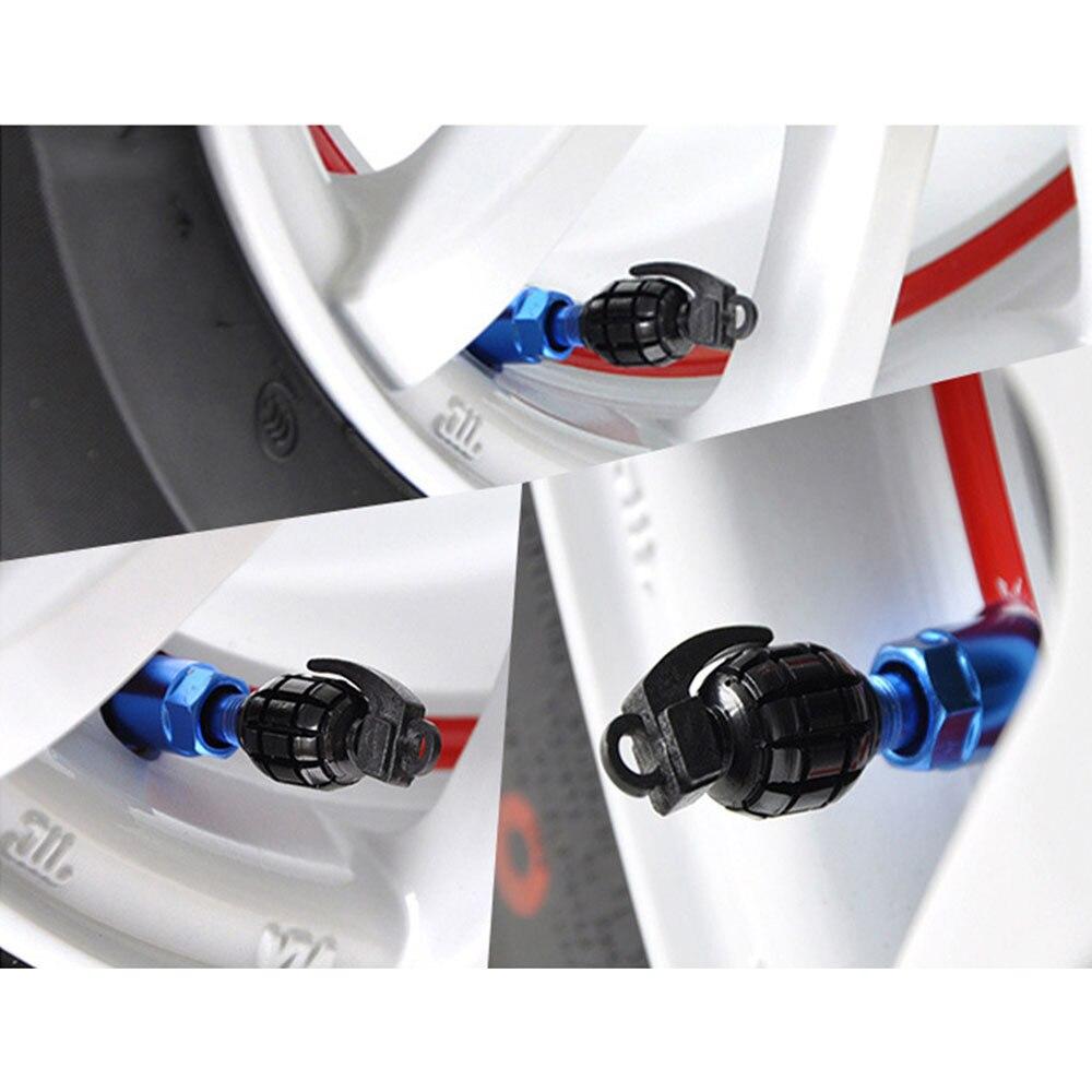 lot 4 bouchon de valve en aluminium auto moto vélo jante roues voiture bmx pneu