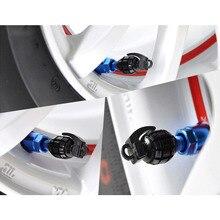 20 Unids/lote Aluminio Universal Car Tyre Aire Tapas Válvula del Neumático De La Bicicleta Tapa de la válvula Del Coche Cubierta de la Rueda de Estilo Ronda 5 Colores De Carro