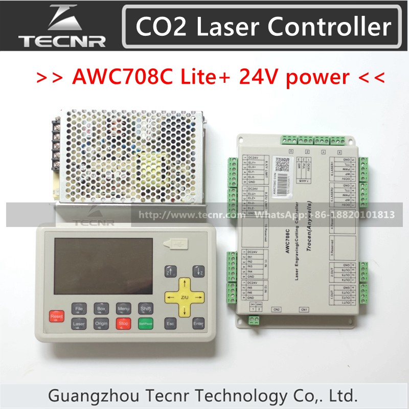 Trocen Anywells AWC708C Lite Co2 Laser Controller System Meanwell 24V 3 2A 75W Switching Power Supply