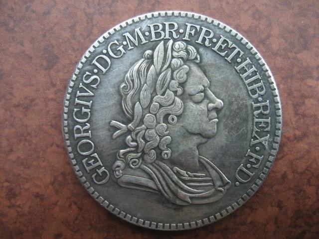 Inggris 1718 crown coin copy