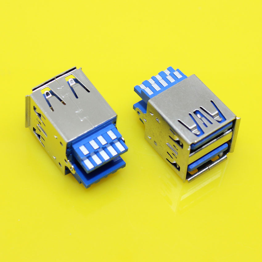 cltgxdd US-163   New Double USB 3.0 Connector USB Socket two-layer USB3.0 female Jack AF type