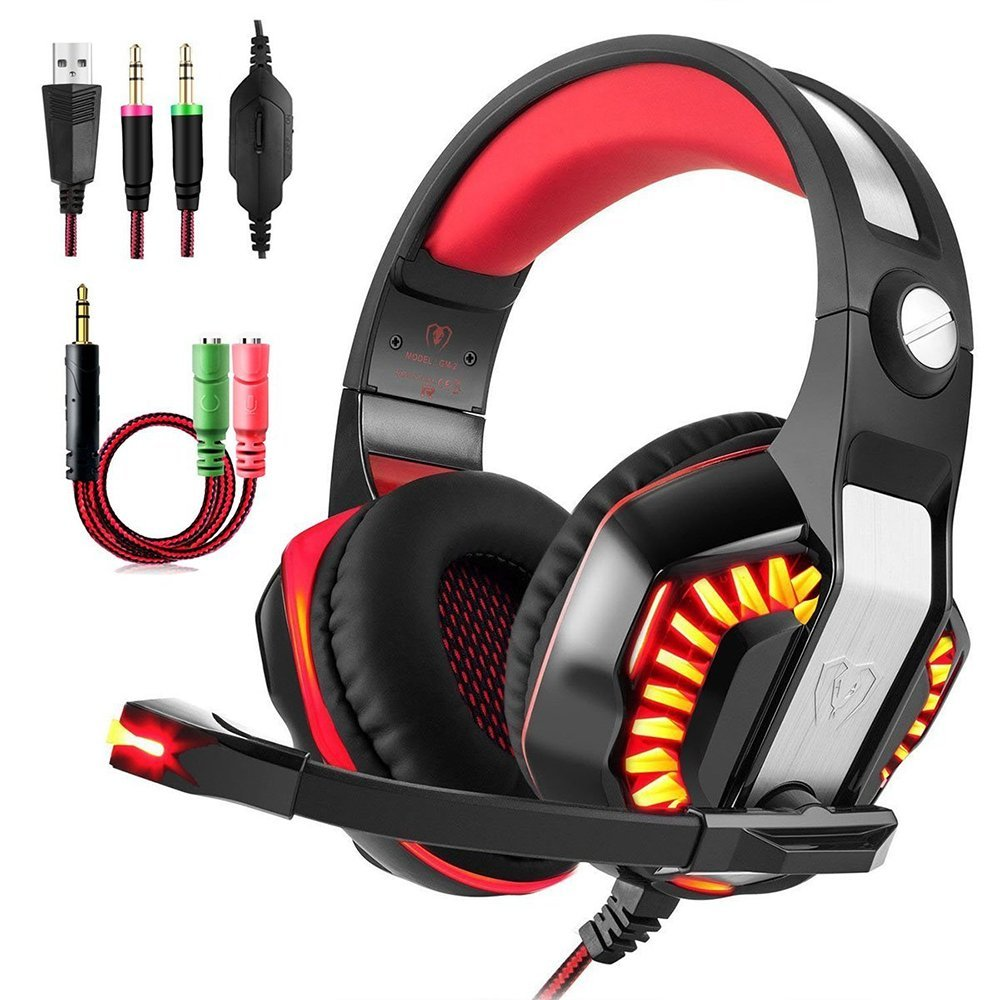 KOTION EACH G2000 Upgrade Gaming Headset GM-2 Headband Casque Gamer Headphone with LED light Mic for Xbox One PS4 Latop Computer teamyo n2 computer stereo gaming headphones earphones for mobile phone ps4 xbox pc gamer headphone with mic headset earbuds