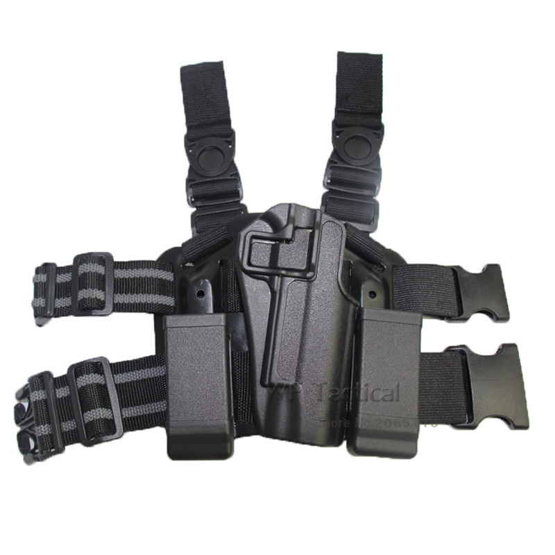 Top Quality CQC Colt1911Thigh Holster Military Tactical Hunting Drop Leg Holster for Colt 1911 With 2 Magazine Pouch image