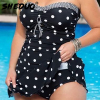 2017 New Strap One Piece Dot Swimsuit