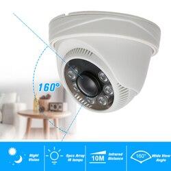 1080P AHD Dome kamera telewizji przemysłowej 2.0MP 1.8mm 6 sztuk Array IR lampy Night Vision IR CUT kryty bezpieczeństwo w domu System PAL w Kamery nadzoru od Bezpieczeństwo i ochrona na