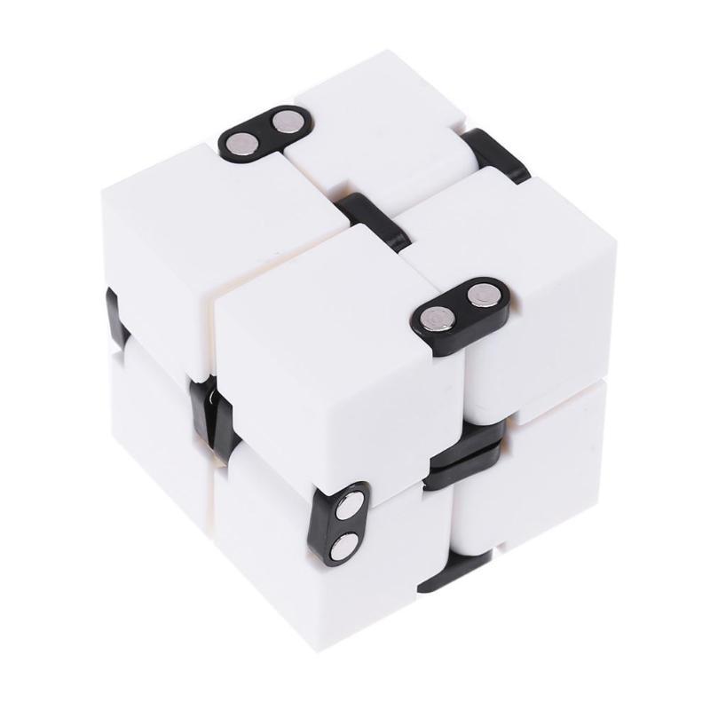 Детский кубик бесконечности, волшебный антистрессовый кубик-Спиннер, ручная головоломка, расширяющаяся рельефная игрушка для снятия стресса для детей, волшебный Спиннер для пальцев, подарок - Цвет: Белый