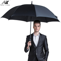 Creative Outdoor Umbrella Male Women S Super Large Golf Umbrella Semi Automatic Windproof Long Umbrella