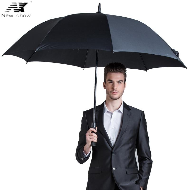 NX Parapluie моцны ветраахоўны паўаўтаматычны доўгія парасон мужчына Крэатыўны вялікі адкрыты чалавек і жаночыя бізнес-парасоны