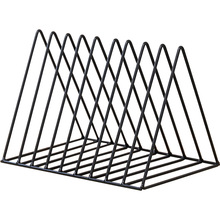 Bookshelf iron Geometry Newspapers and Magazines Storage Rack Home Decor Shelf