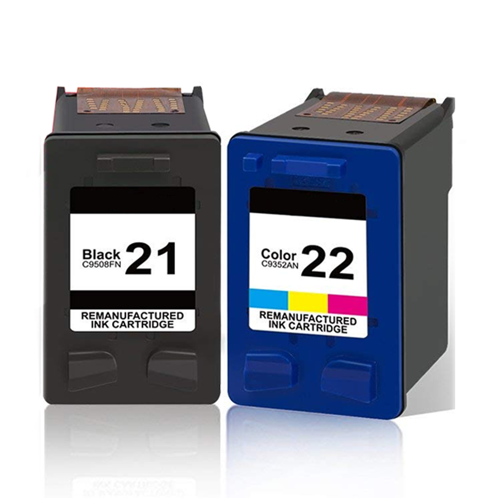 21 22XL Refilled Ink font b Cartridge b font Replacement for hp 21 22 font b