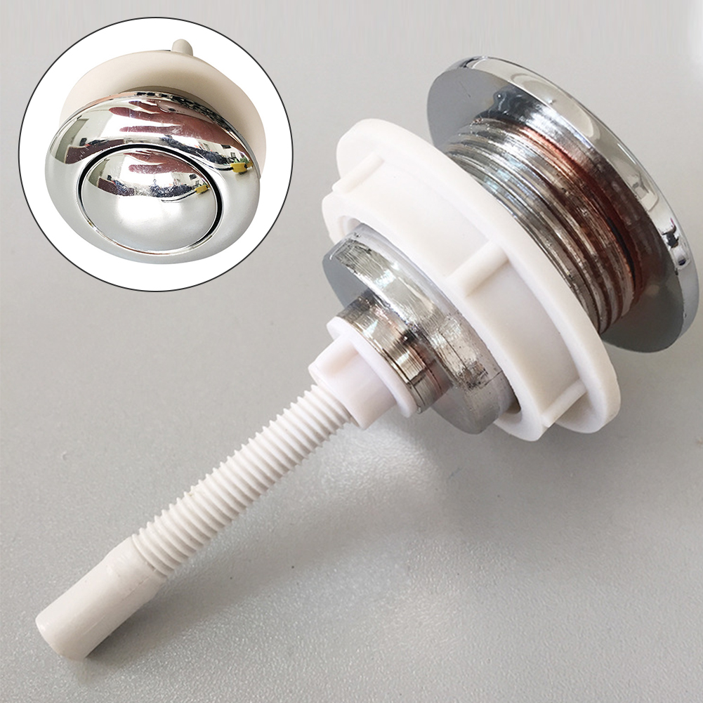 Bathroom Mounting Hole Water Saving Round Tank Accessories Cover Toilet Button Push Switch Vintage Closestool Rod Single Press