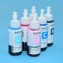6PC/Lot Dye ink Based Refill Ink Kit For Epson L800 L801 L810 L111 L110 L210 Printing ink Cartridge No. T6731/2/3/4/5/6 70ml 6 color dye ink based on oem of refill ink kit for epson l series printer ink cartridge no t6741 2 3 4 5 6