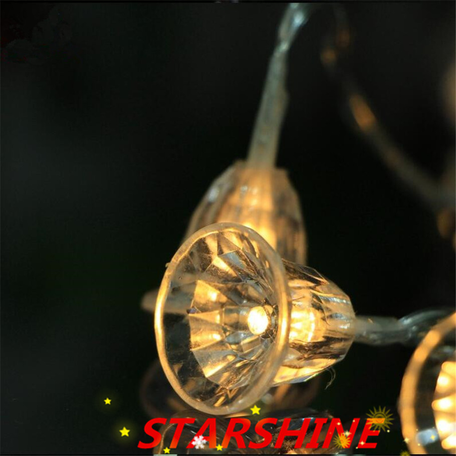 Factory sales New 20 LED colorful Small Bell String Fairy Light Christmas Xmas Party Wedding Decoration Battery Operated -in LED String from Lights ... & Factory sales New 20 LED colorful Small Bell String Fairy Light ...