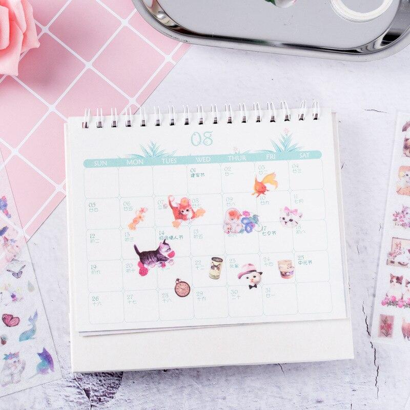 6 pcs lot Japanese wind cats sticker DIY diary album decoration stickers scrapbooking planner label Scrapbook stickers in Stickers from Home Garden