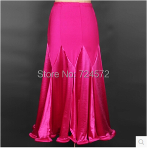 Image 3 - Ballroom dance costume sexy  spandex ballroom dance long skirt  for women ballroom dance competition skirt 2kinds of colors