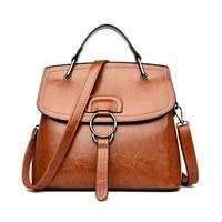 Women's Genuine Leather Handbags Big Size Luxury Handbags Vintage OL Women Messenger Bags Shoulder Bag Lady Bolsas Feminina