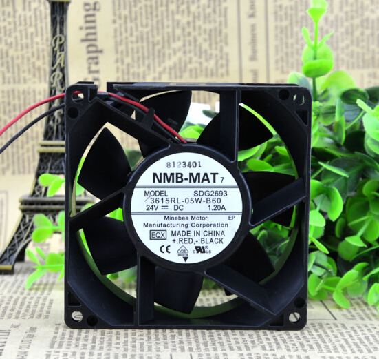 Genuine original NMB 92*92*38 24V 3615RL-05W-B60 cooling fan of big air quantity of fan modalo 15 06 92