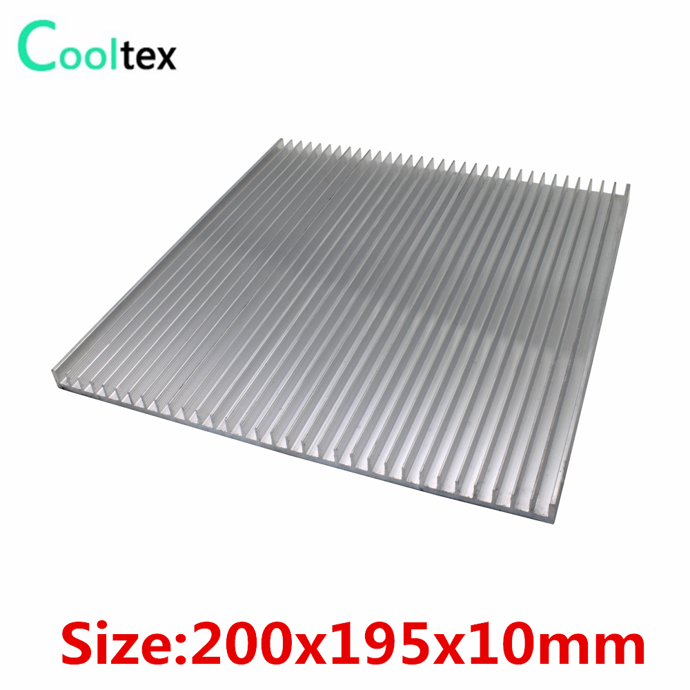 (High power) 200x195x10mm Aluminum HeatSink DIY heat sink radiator for LED Electronic Power Transistor cooler cooling high power 125x125x45mm aluminum heatsink heat sink radiator for electronic chip led cooler cooling recommended