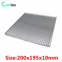 (High power) 200x195x10mm Aluminum HeatSink DIY heat sink radiator for LED Electronic Power Transistor cooler cooling
