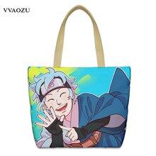 Аниме Наруто Холст сумка сумки для подростков мальчиков девушки мультфильм Косплэй Повседневная Школьный Tote Хозяйственные сумки