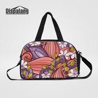 Dispalang Female Casual Travel Bag Handbags Abstract Flower Print Duffle Bags High Quality Canvas Duffel Weekend
