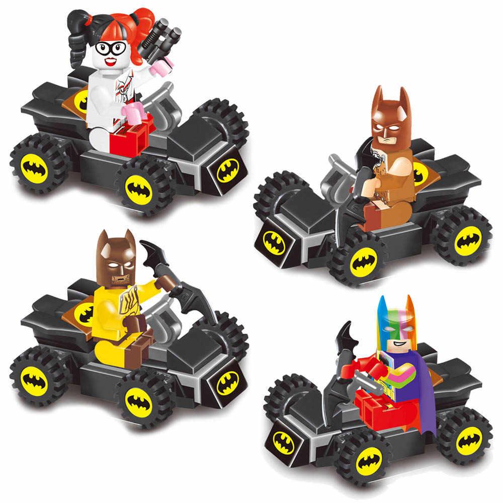 Kitoz Avenger Super Hero Batman Batmobile Bat Tumbler Vehicle Fighter Toy Figure Building Block Compatible with Lego