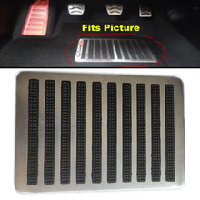 Stainless Steel Anti-Skid Car Footpad Foot Rest Pedal Floor Mats Carpet Pads Patch Heel Plate Accessories For Cars Suv Truck
