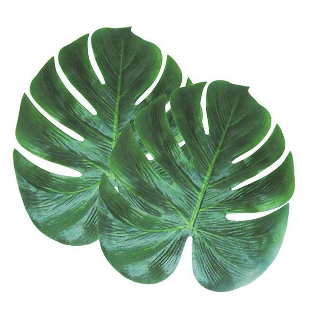 2 pcs artificial plant turtle leaves artificial plants fake leaves