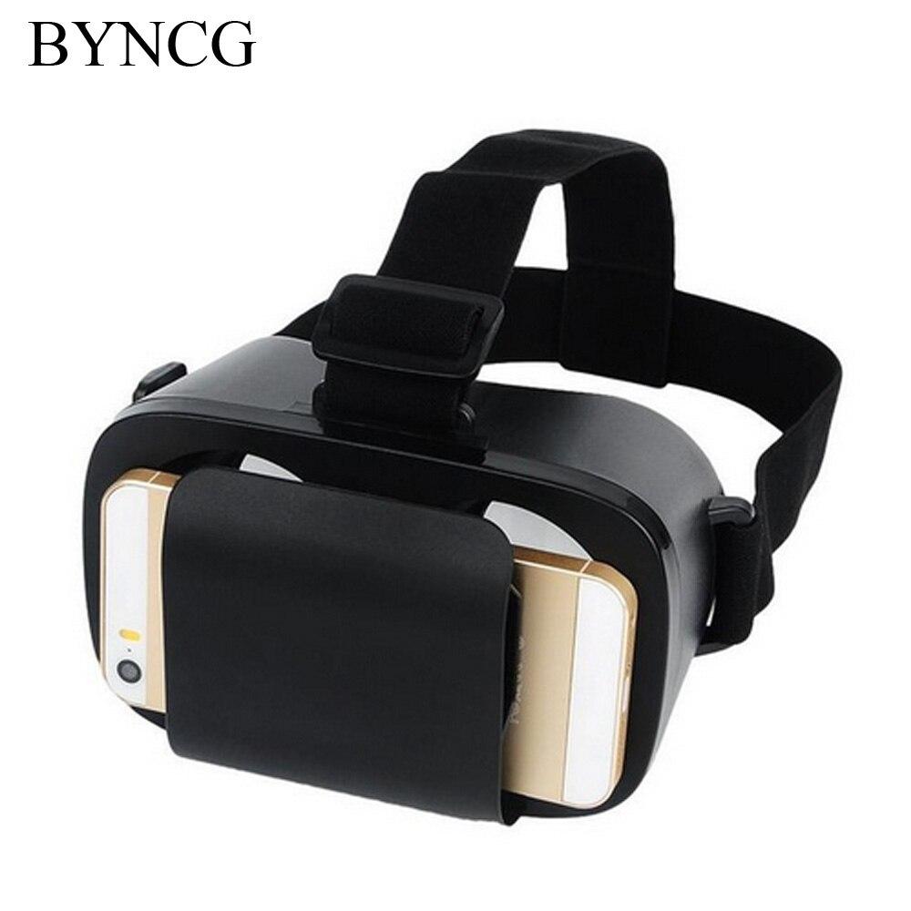 "Byncg для VR коробка оригинальной коробке Google cardboard виртуальной реальности VR Очки 3D шлем телефон для 4.7 ""- 6 ""смартфон"