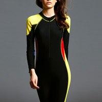 2018 Swimwear Women Full Cover Bodysuit Slimming Roupa de banho Cover Belly Swimsuit Long Sleeve Conservative Swim Bachwear