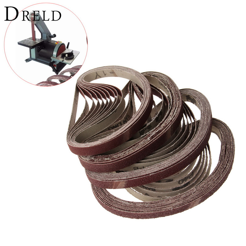 10Pcs 13x457mm Abrasive Polishing Sanding Belt For Belt Sander Grinder Drill Grinding For Dremel Accessories Grit 40/60/80/120