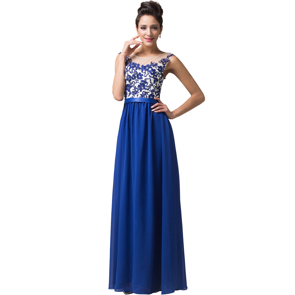 Grace karin royal blue red evening dresses long 2016 for Long dress for wedding mother of the bride