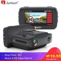 Junsun 3 In 1 Dash Cam Ambarella A7LA50 Car Radar DVR Camera 1296P GPS For Russian