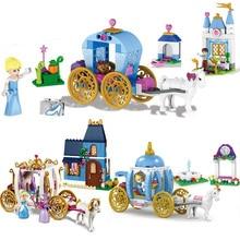 Girl Building Blocks Friends Princess Cinderella Pumpkin Carriage Set Best gift for girls Compatible with LegoINGly Duploe 41053
