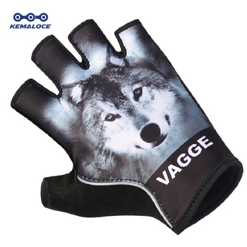 Anti-shock Sport Wolf Cheap Cycling Glove Wholesale Heat Racing Bike Mitten Breathable Pro Team Sublimation Black Bicycle Gloves