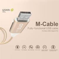 Original WSKEN 2 In 1 Micro USB OTG Cable Charging Data Cord For Samsung S6 S5