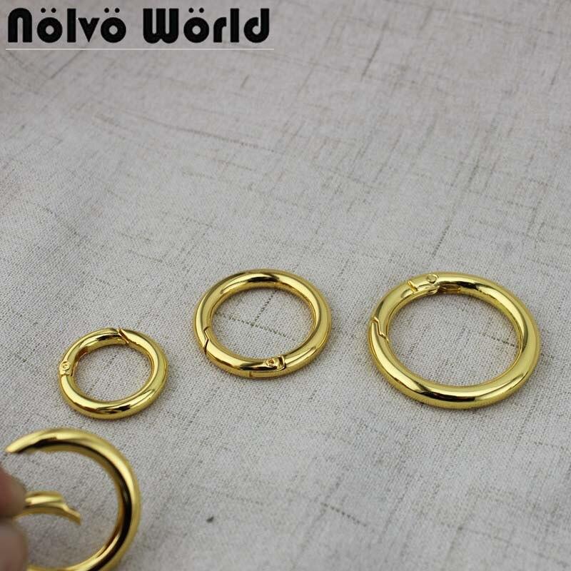 Peça Portão Primavera O-ring Chaveiro Openable Leathercraft Belt Buckle Strap Cadeia Cão Fecho Clipe Gatilho 10-50 18mm 25mm 32mm