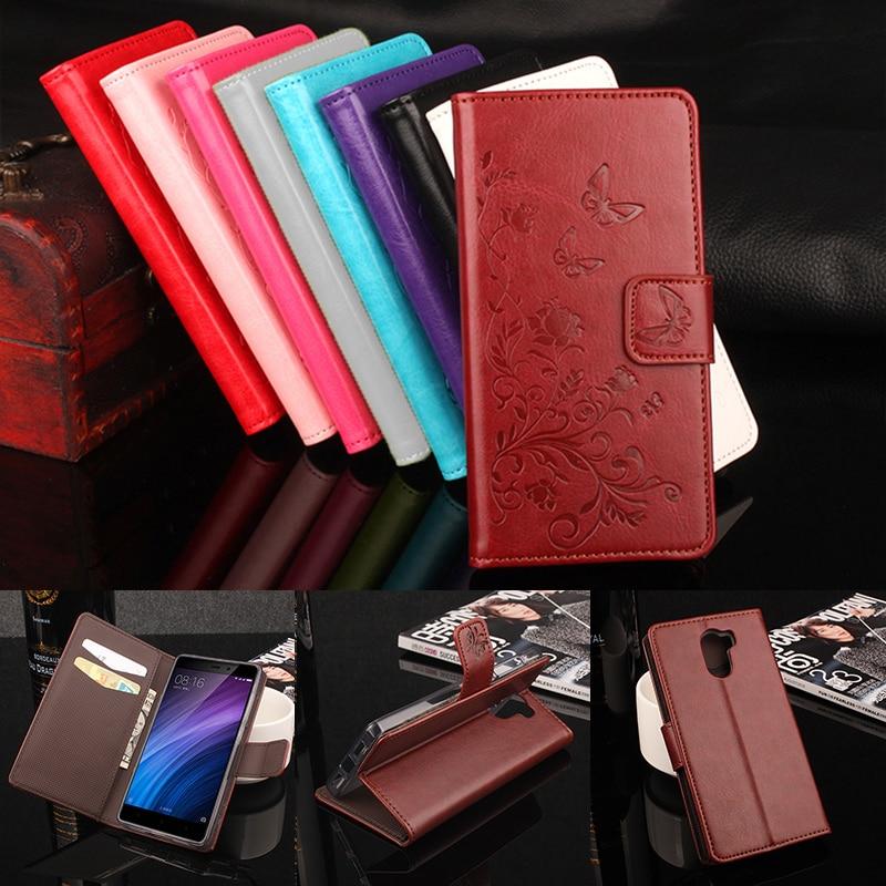 Xiaomi Redmi 4 դրամապանակի դեպքում Luxury Stand Style Flip Case for Xiaomi Redmi 4 կաշվե կափարիչ մագնիսական հեռախոսի տուփ քարտի բնիկով