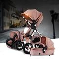 Carrinho de bebê 2 em 1 3 em 1 choque dobrado folding carrinho de bebê recém-nascido do bebê de ouro Rússia frete grátis