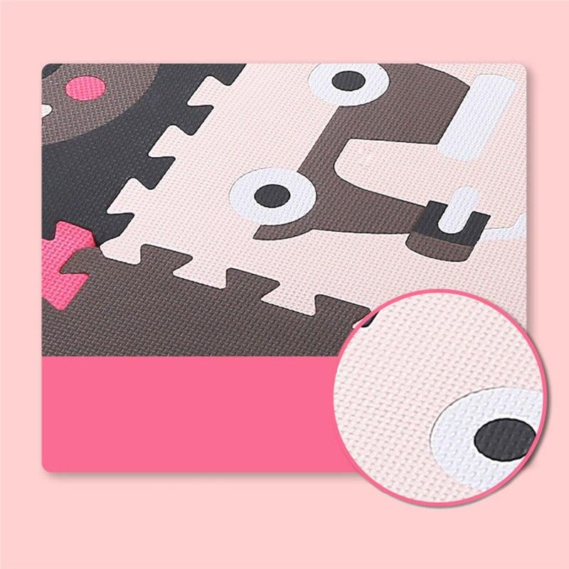 Bébé assembler tapis de jeu enfants mousse clôture ramper jeu coussin enfants imperméable Puzzle Portable chambre salon tapis Pad - 3