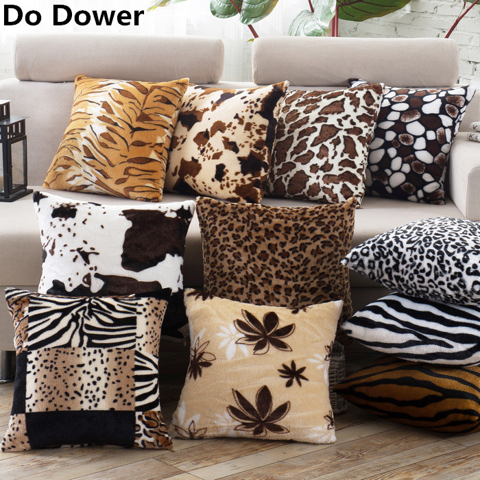 Fashion Leopard plush series christmas decorations for home cushion covers pillow case Decorative sofa pillowcase no core
