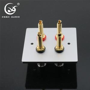 Image 4 - 1セットxsshオーディオハイエンドゴールドメッキアンプスピーカー端子メスロングショートバージョンバインディングポストと含むプレートソケット