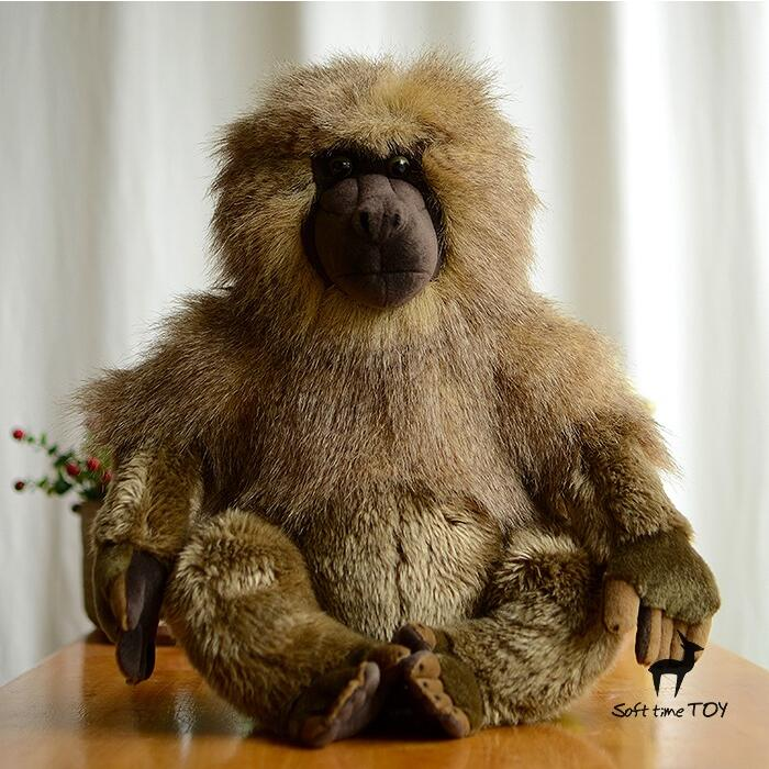 Simulation Baboons Doll Toy Pillow African Wildlife Large Dolls Cute Plush Animals Toys Gifts 40cm simulation wildlife stuffed animal toys pelican doll toucan plush toy rare birds dolls gifts