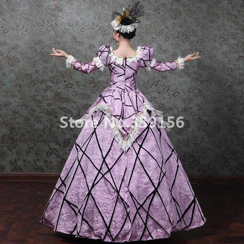 e80e1f7acdc1 ... Halloween Marie Antoinette Dress Renaissance Victorian Period Dress  Antique Vintage Masquerade Gown Clothing ...